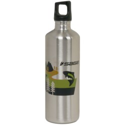 Sage Stainless Steel Water Bottle - 24 fl.oz. in Sage/Jumping Fish