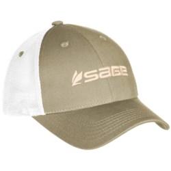 Sage Trucker Hat in Sand