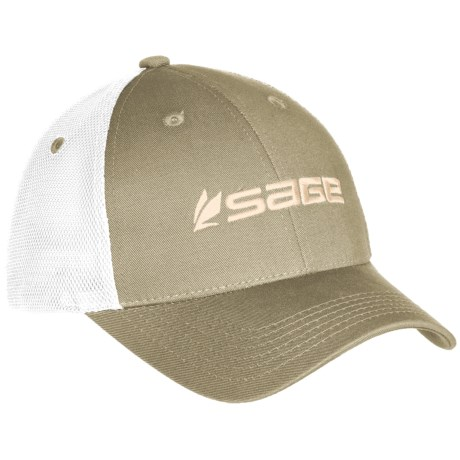 Sage fly fishing rod reel truckers hat cap baseball for Fly fishing hat