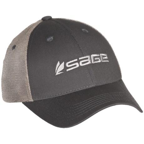 Sage Truckers Hat in Graphite