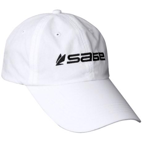 Sage Ultralight Long Bill Hat in White