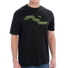 Sage Upstream T-Shirt - Short Sleeve (For Men) in Black - Closeouts