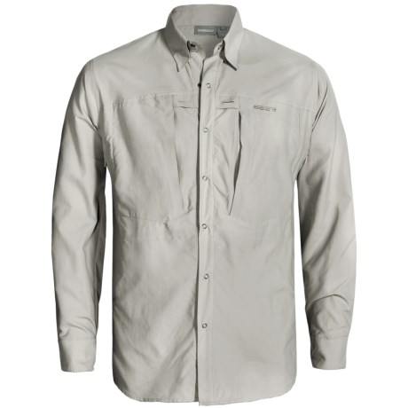 Sage Vapor Fishing Shirt - UPF 30+, Long Sleeve (For Men) in Smoke