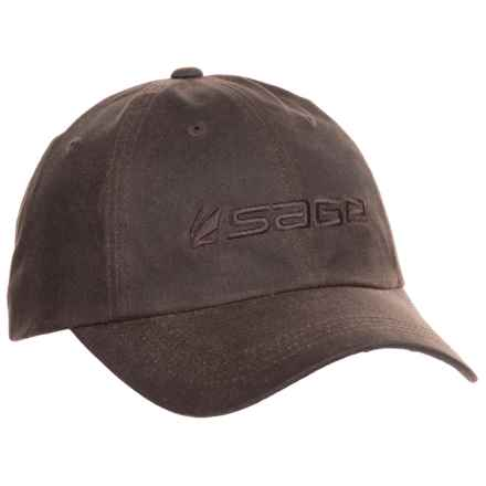 Sage Waxed-Cotton Baseball Cap (For Men) in Coffee - Closeouts
