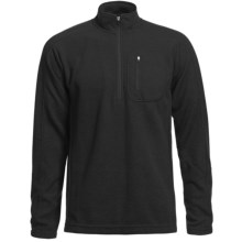 Sage Wool Pro Sweater - Zip Neck (For Men) in Black - Closeouts