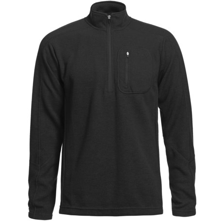 Sage Wool Pro Sweater - Zip Neck (For Men) in Brick
