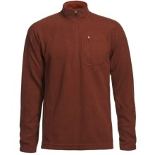 Sage Wool Pro Sweater - Zip Neck (For Men) in Brick - Closeouts