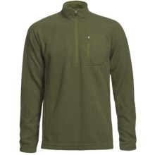 Sage Wool Pro Sweater - Zip Neck (For Men) in Sage - Closeouts