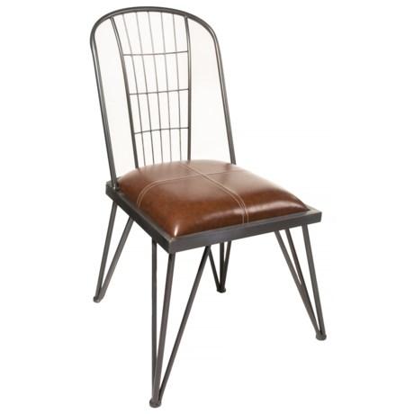 Sagebrook Home Metal Frame Chair in Black