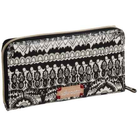 Sakroots Artist Circle Wallet (For Women) in Black/White One World - Closeouts