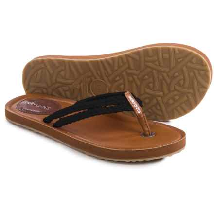 Sakroots Bethanny Flip-Flops (For Women) in Black - Closeouts