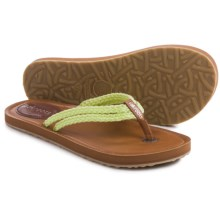 Sakroots Bethanny Flip-Flops (For Women) in Chartreuse - Closeouts