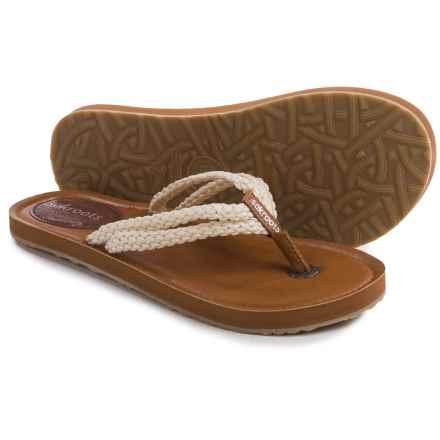 Sakroots Bethanny Flip-Flops (For Women) in Natural - Closeouts