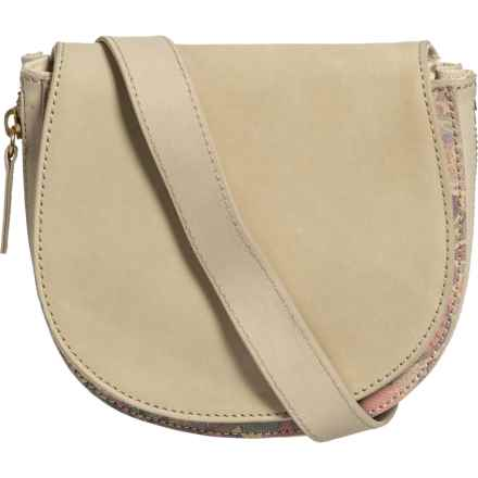 Sakroots Convertible Saddle Bag - Leather (For Women) in Latte