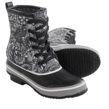 Sakroots Duet Rubber Duck Boots - Waterproof (For Women) in Black/White Spirit Desert - Closeouts