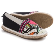 Sakroots Ella Color-Block Espadrille Shoes - Slip-Ons (For Women) in Optic Songbird - Closeouts