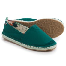 Sakroots Ella Origin Espadrille Shoes - Slip-Ons (For Women) in Deep Teal - Closeouts