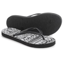 Sakroots Encore Flip-Flops (For Women) in Black/White One World - Closeouts