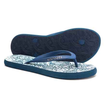 cb4f658e865456 Sakroots Encore Flip-Flops (For Women) in Navy Spirit Desert - Closeouts