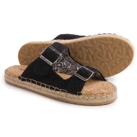 Sakroots Mandy Flat Sandals (For Women) in Black Sparkle - Closeouts