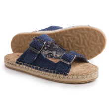 Sakroots Mandy Flat Sandals (For Women) in Denim - Closeouts
