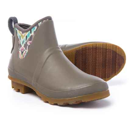 Sakroots Mano Ankle Rain Boots - Waterproof (For Women) in Slate Brave Beautiful - Closeouts