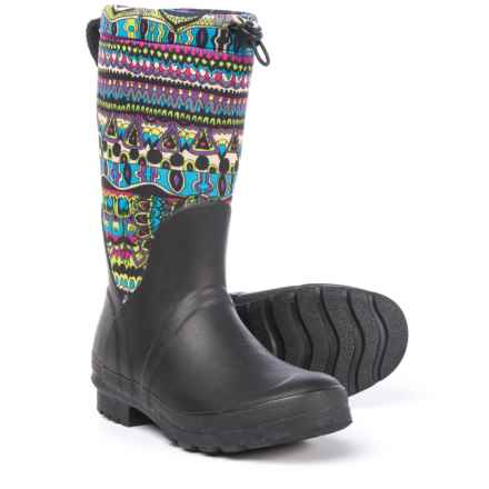 Sakroots Mezzo Tall Rain Boots - Waterproof (For Women) in Radiant One World - Closeouts