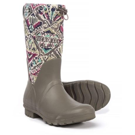 Sakroots Mezzo Tall Rain Boots - Waterproof (For Women) in Slate Brave Beautiful