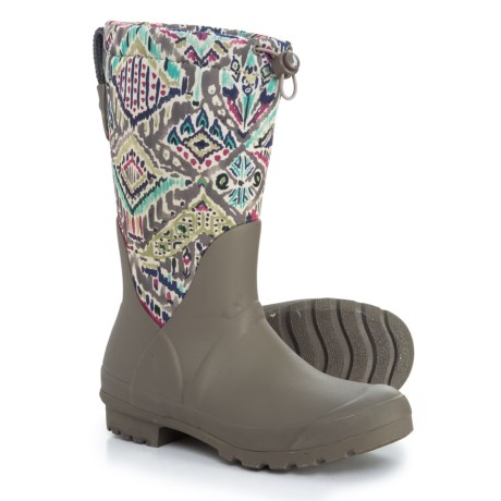Sakroots Mezzo Tall Rain Boots - Waterproof (For Women) in Slate Brave Beauti