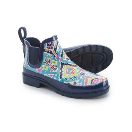 Sakroots Rhyme Rubber Ankle Rain Boots - Waterproof (For Women) in Aqua Brave Beauti - Closeouts