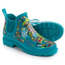 Sakroots Rhyme Rubber Ankle Rain Boots - Waterproof (For Women) in Teal Spirit Desert - Closeouts