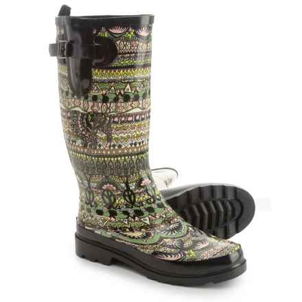 Sakroots Rhythm Rubber Rain Boots - Waterproof (For Women) in Jasper One World - Closeouts