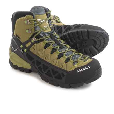Salewa Alp Flow Mid Gore-Tex® Boots - Waterproof (For Men) in Basilico/Foliage - Closeouts