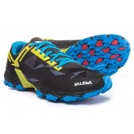 Salewa Lite Train Trail Running Shoes (For Men) in Black/Kamille