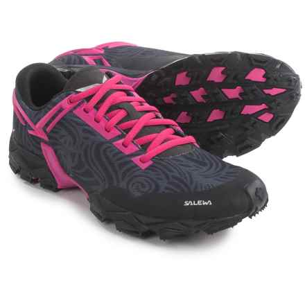 Salewa Lite Train Trail Running Shoes (For Women) in Black/Pinky - Closeouts