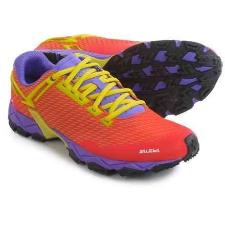 Salewa Lite Train Trail Running Shoes (For Women) in Hot Coral/Citro - Closeouts