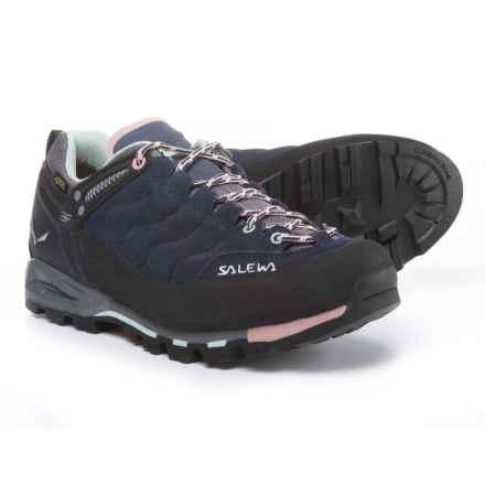 Salewa Mountain Trainer Gore-Tex® Hiking Shoes - Waterproof, Leather (For Women) in Premium Navy/Subtle Green - Closeouts