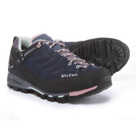 Salewa Mountain Trainer Gore-Tex® Hiking Shoes - Waterproof, Leather (For Women) in Premium Navy/Subtle Green