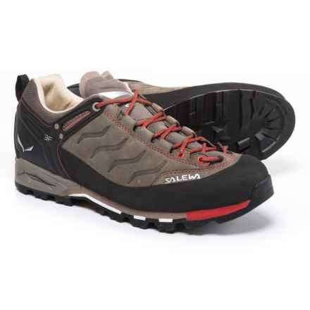 Salewa Mountain Trainer Hiking Shoes - Nubuck (For Men) in Bungee Cord/Firebrick - Closeouts