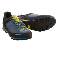 Salewa Mountain Trainer Hiking Shoes - Suede (For Women) in Blue Jeans/Citro - Closeouts
