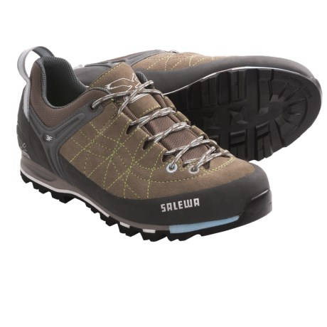 Salewa Mountain Trainer Hiking Shoes - Suede (For Women) in Laguna/Bamboo