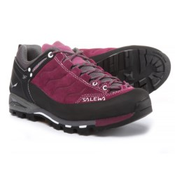 Salewa Mountain Trainer Hiking Shoes - Suede (For Women) in Red Onion/Quiet Shade