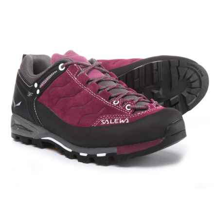 Salewa Mountain Trainer Hiking Shoes - Suede (For Women) in Red Onion/Quiet Shade - Closeouts