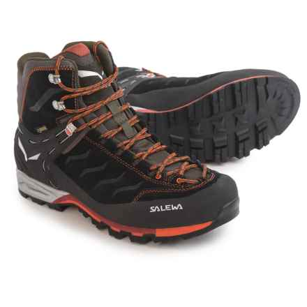 Salewa Mountain Trainer Mid Gore-Tex® Boots - Waterproof (For Men) in Black/Indio - Closeouts