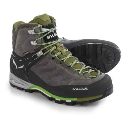 Salewa Mountain Trainer Mid Gore-Tex® Boots - Waterproof (For Men) in Pewter/Emerald - Closeouts