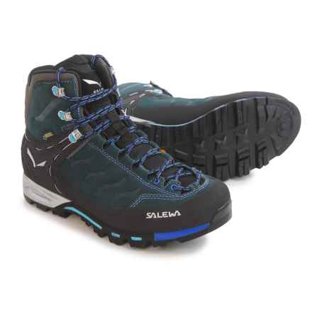 Salewa Mountain Trainer Mid Gore-Tex® Hiking Boots - Waterproof (For Women) in Carbon/River Blue - Closeouts