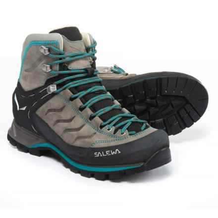 Salewa Mountain Trainer Mid Hiking Boots - Nubuck (For Women) in Pewter/Ocean - Closeouts