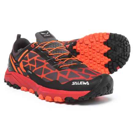 Salewa Multi Track Gore-Tex® Trail Running Shoes - Waterproof (For Men) in Black/Bergot - Closeouts