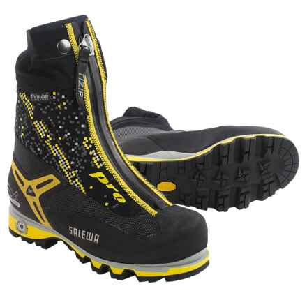 Salewa Pro Gaiter Thinsulate®  Mountaineering Boots - Waterproof, Insulated (For Men) in Black/Yellow - Closeouts