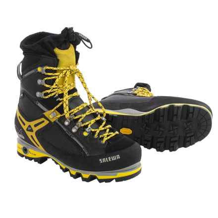 Salewa Pro Vertical Gore-Tex® Mountaineering Boots - Waterproof (For Men) in Black/Yellow - Closeouts